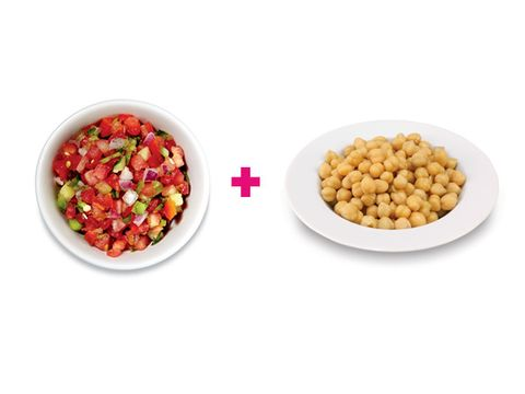 Salsa and chickpeas