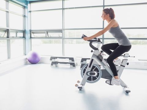 Human leg, Indoor cycling, Elbow, Joint, Exercise, Exercise machine, Physical fitness, Wrist, Stationary bicycle, Exercise equipment,
