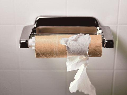 Empty toilet paper tube