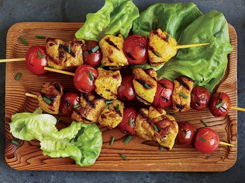 Spiced Chicken and Tomato Skewers