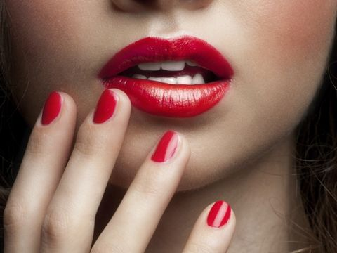 Finger, Lip, Cheek, Skin, Chin, Red, Nail, Eyelash, Nail care, Manicure,