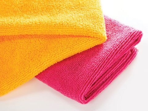 2. Get obsessed with microfiber cloths.
