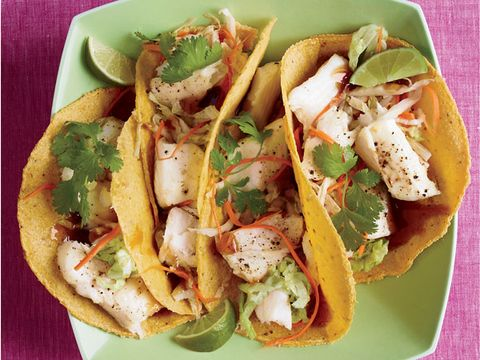 Asian Fish Tacos With Napa Cabbage Slaw