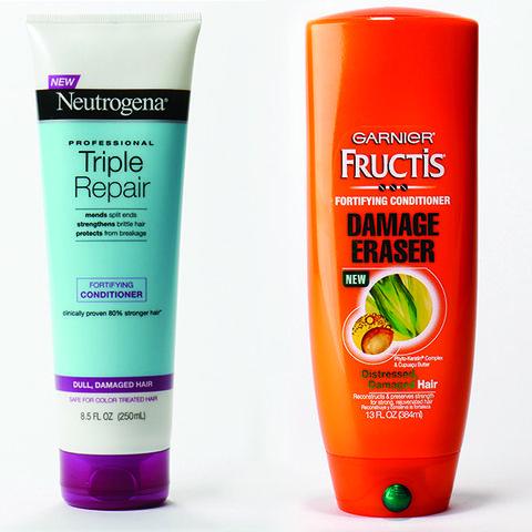 Conditioner: Neutrogena Triple Repair, Garnier Fructis Damage Eraser Fortifying Conditioner