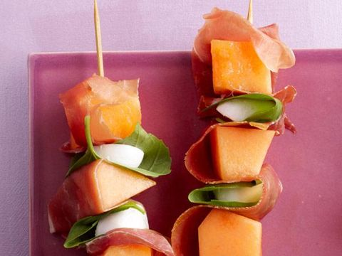 Quick Cantaloupe Skewers