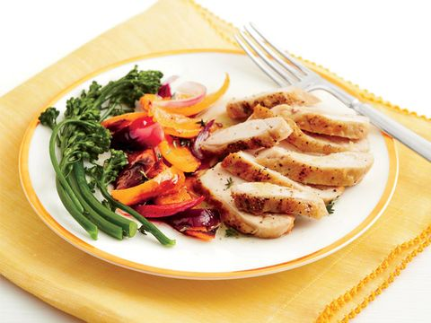 Roast Chicken and Peppers recipe