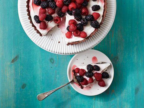 Chocolate-Berry Tart