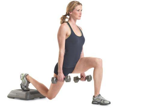 Split squat (legs, glutes)