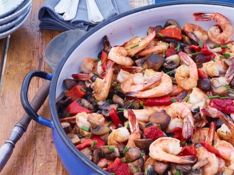 Shrimp and Mushroom Scampi