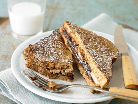 Chocolate-Banana Stuffed French Toast