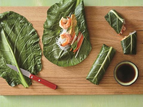 Shrimp, Tofu, and Collard Rolls