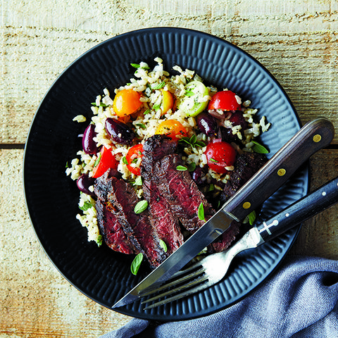 Steak And Brown Rice Salad