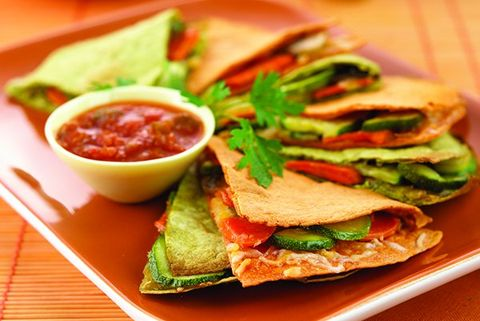 Slimmed-Down Veggie Quesadillas