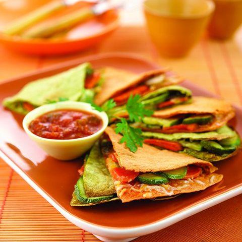 Slimmed-Down Veggie Quesadillas
