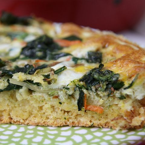 Breakfast Casserole Recipes: Spinach and Broccoli Slaw Quiche Cornbread
