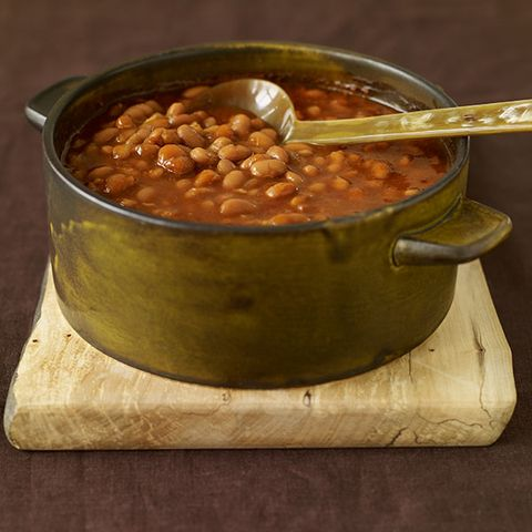 Honey slow-baked beans