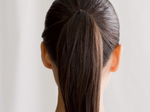 How to fix a lumpy ponytail