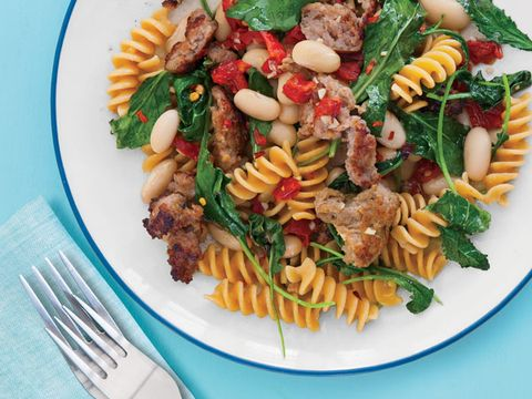 Sausage, White Bean, and Kale Rotini Recipe