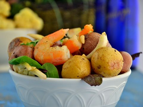 Zesty Shrimp with Fingerling Potatoes