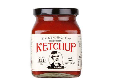 Sir Kensington gourmet scooping ketchup