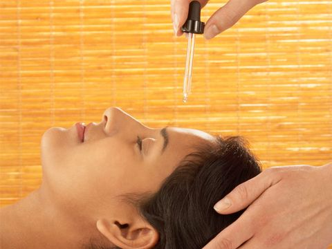 woman spa oil