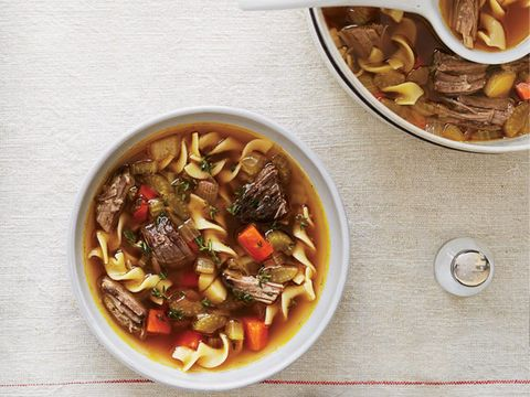 Vegetable-Noodle Soup with Beef