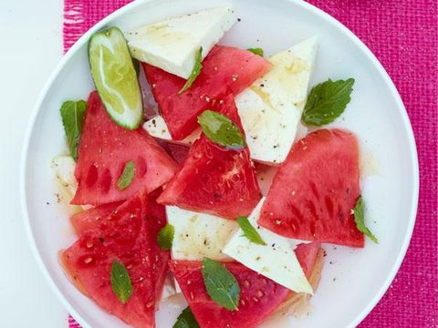 Watermelon and Feta With Honey and Mint