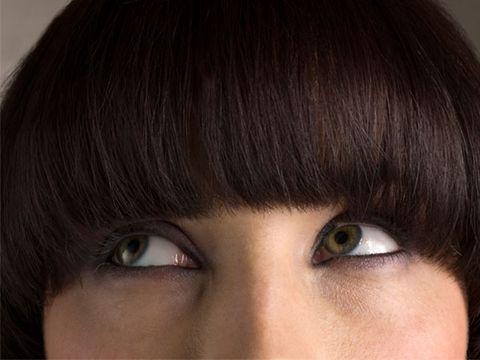 Lip, Brown, Hairstyle, Skin, Eye, Forehead, Eyelash, Eyebrow, Iris, Organ,