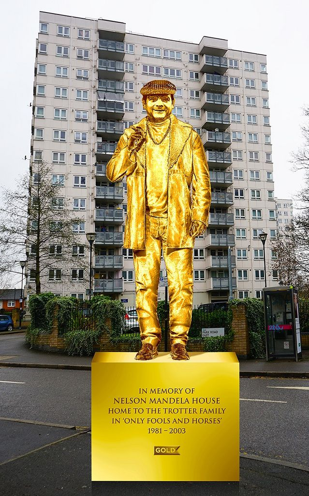 Only Fools & Horses fans sign petition to install giant gold Del Boy statue at London flats