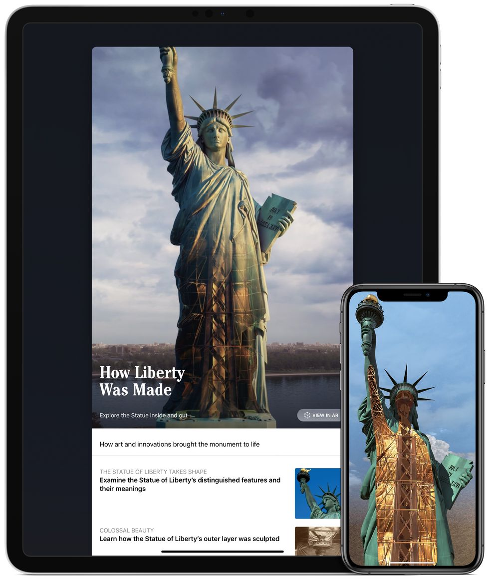 For the new Statue of Liberty Museum, Diane von Furstenberg teamed up with Tim Cook to launch an app with an exclusive look at Lady Liberty.