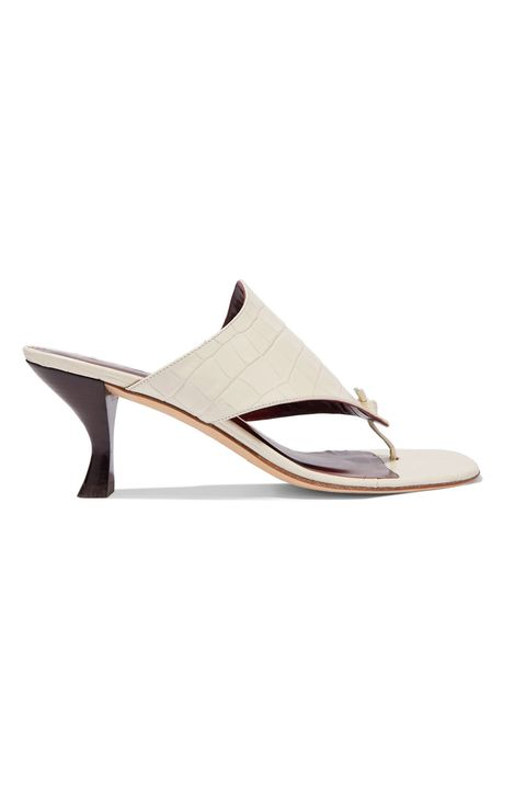 staud heeled flip flop