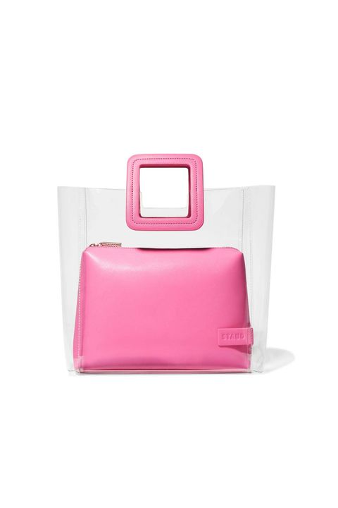 half price designer bag - staud shirley PVC clear tote