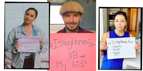 David Beckham, Eva Longoria, Elton John And More Celebrities Take On The #IStayHomeFor Challenge