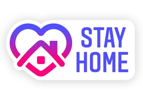 「Stay Home 貼紙」