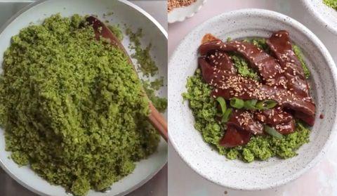 牛排花椰菜飯