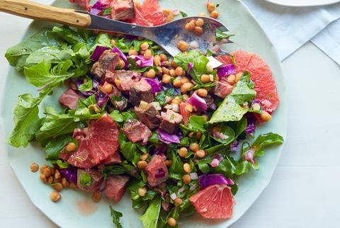 steak and lentil salad recipe