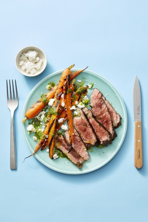 steak recipes - moroccan style steak and carrots