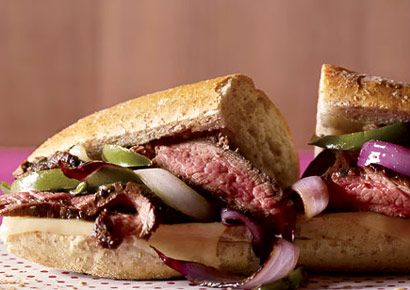 Steak Sandwich with Peppers & Onions
