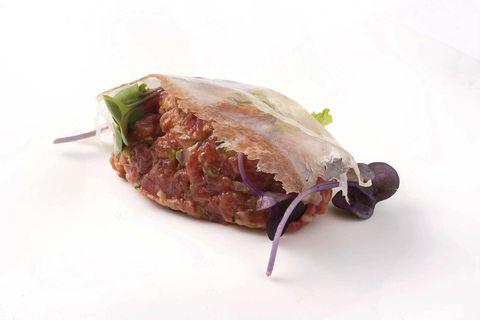 Recetas:Steak tartar con tocino