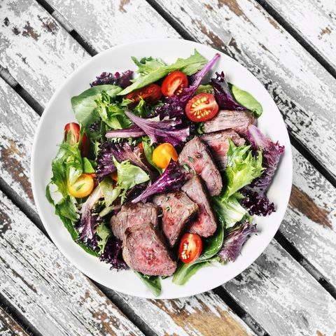 ensalada con carne