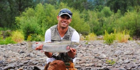 Nick Symmonds and his steelhead trout