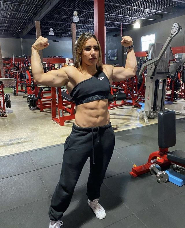 Bodybuilding, Physical fitness, Strength training, Fitness professional, Muscle, Shoulder, Gym, Chest, Arm, Exercise equipment,