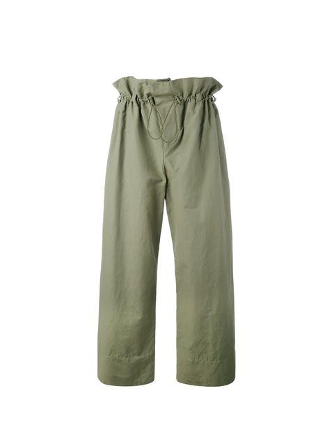 D. R.. Verde cazador. Pantalones con cintura de ... cdaf09731251