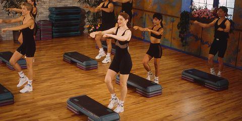 Step Aerobics Class in Seattle