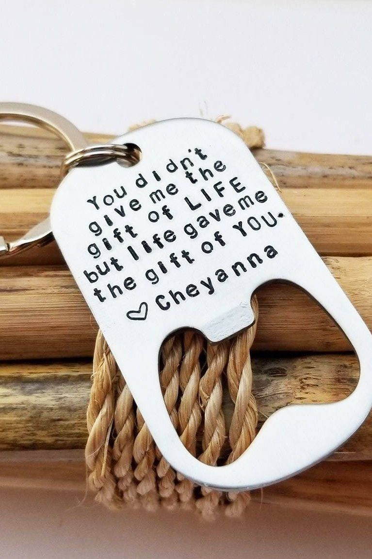 step dad fathers day gifts - engraved bottle opener