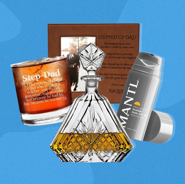 step dad whiskey glass, decanter, frame and mantl spf