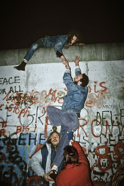 Muro Berlino,Berlin, 1980-1990, from cold war to the fall of the wall