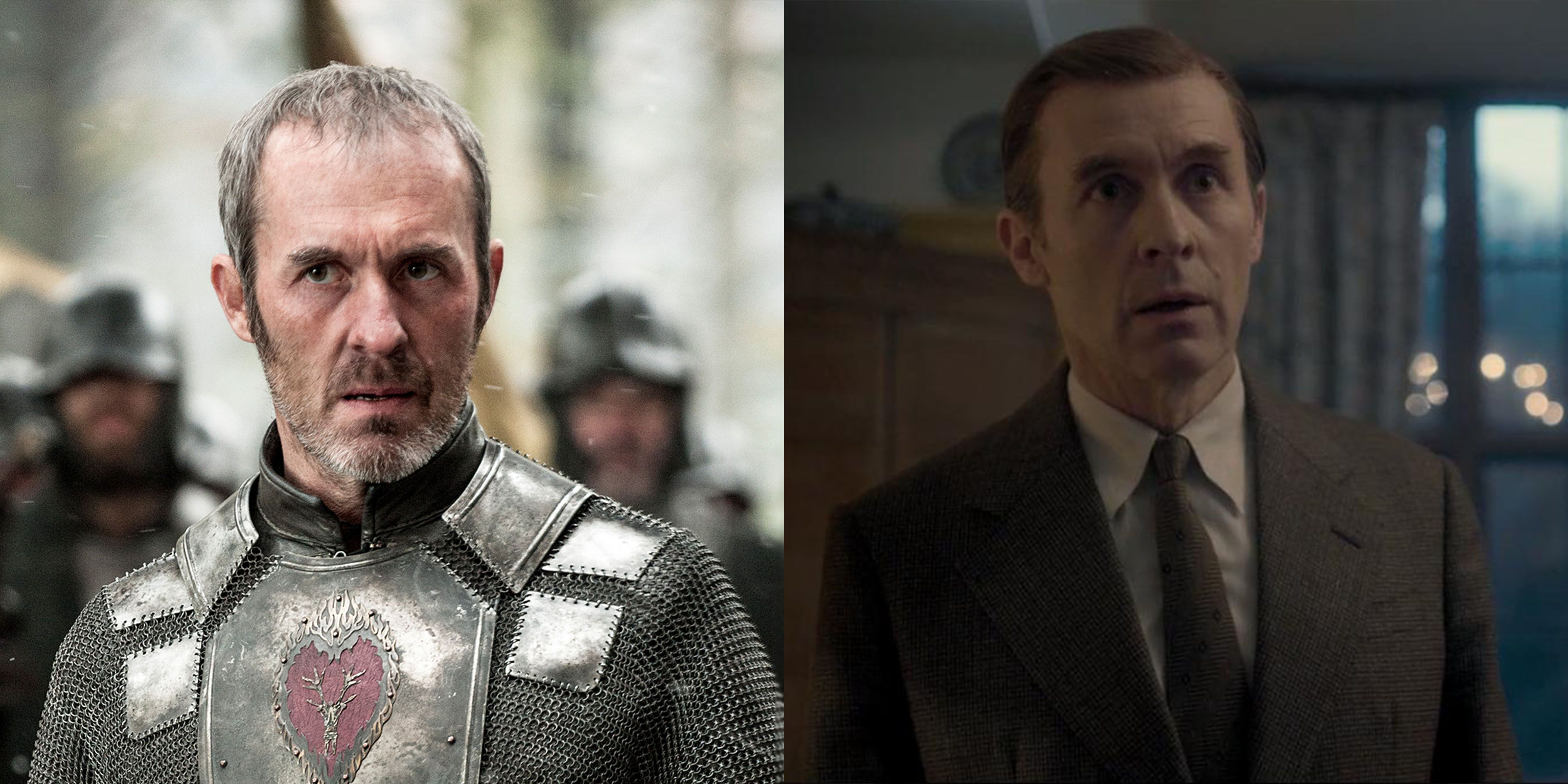 """Stephen Dillane Stannis """"Grammar Nerd"""" Baratheon died at the end of Season 5 and Dillane, the actor who played him, moved on to a role on Netflix's hit The Crown , playing English artist Graham Sutherland."""