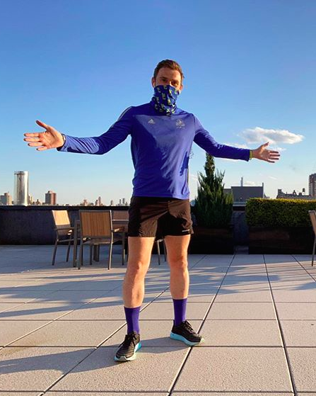 stephen england ran the boston marathon on his roof in nyc