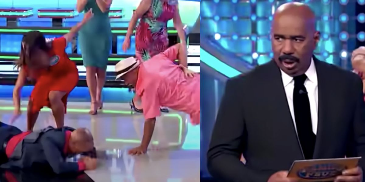 Steve Harvey Was Speechless After 'Family Feud' Contestants Broke Out Dance Moves
